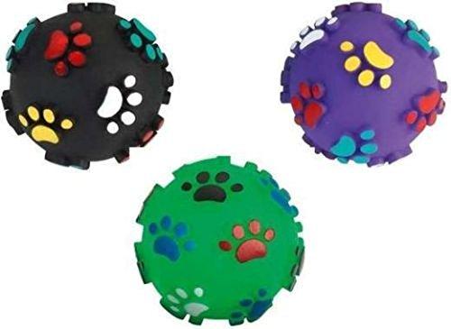 3 Stück 7 cm Pfotenball Quietschball Hundeball Spielball für Hunde Spielzeug Ball Hundespielzeug Massageball Apportierspielzeug Bringsel Wurfspielzeug