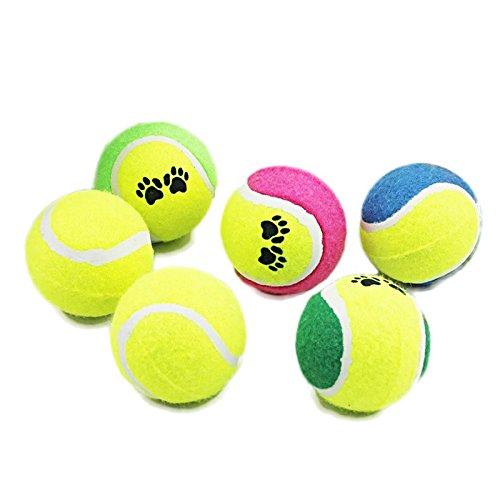 5X Tennisbälle, Spielball Spielzeug Ball Hund Tennis für Haustiere Hunde Katze