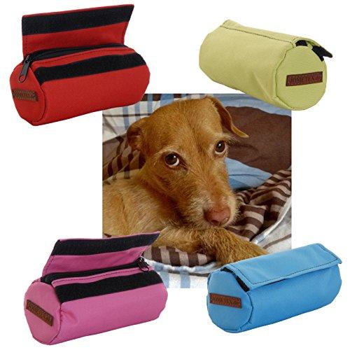Apportiertasche Dummy Futterdummy Training Futterbeutel Leckerlietasche Snackdummy Hund (Rot)