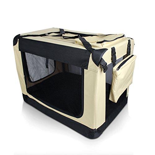 Auralum® 91x 63 x63cm Faltbare Tiertragetasche Hundetasche Transportbox Rucksack Reisebox Autobox für Hunde(XXL)