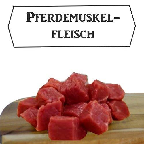 """Barfbox """"Pferdegulasch"""" 10x 1000g - Barf für Hunde / Hundefutter / Katzenfutter / Frostfutter / Frostfleisch / Barf Paket / Barffleisch / Frisches Futter / Frischfutter / Muskelfleisch / Pferd"""