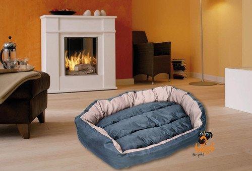 Best For Pets Orthopädisches Hundebett mit TÜV Qualität DELUXE 5 Große Hundekissen Ortho-MEDIC VISCO KISSEN (L, CHOCOLATE)