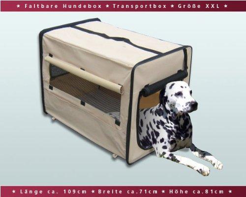 Faltbare Hundebox / Auto Transportbox / Transporthütte / Hundehütte XXL Beige