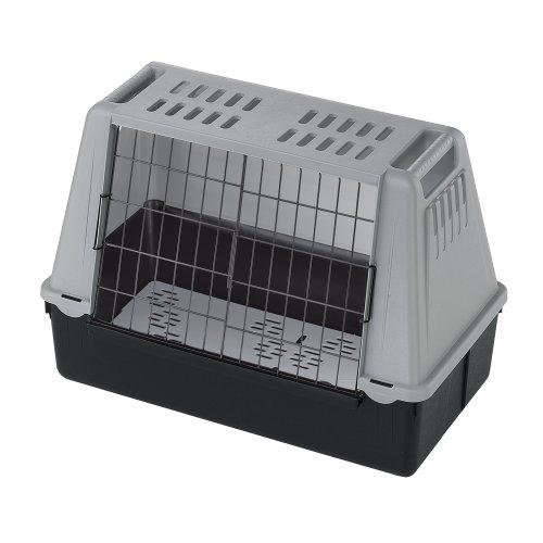 Ferplast 73079021W1 Autotransportbox ATLAS CAR MINI, für Hunde, Maße: 72 x 41 x 51 cm, grau