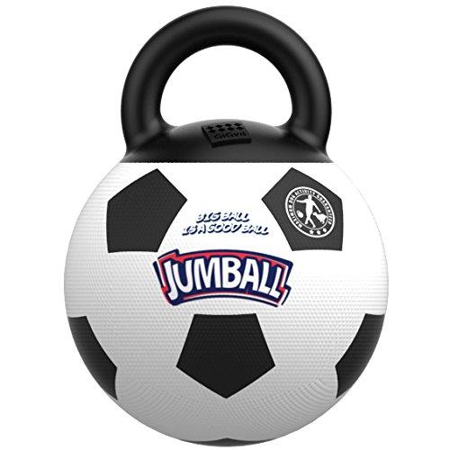 GiGwi 6332 Robustes Hundespielzeug Jumball Fußball mit Gummigriff, großer Hundeball / Spielball