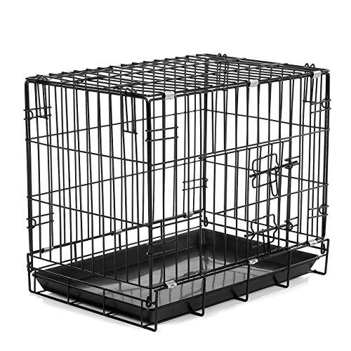 Happypet® DG100 Transportkäfig für Hunde, faltbar, 30,5 x 45,5 x 38 cm, pulverbeschichteter Eisen-Draht