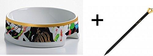 Harald Glööckler Porzellan Hundenapf Art + Luxus Bleistift von Casa Padrino im Kronendesign - Barock Dekoration