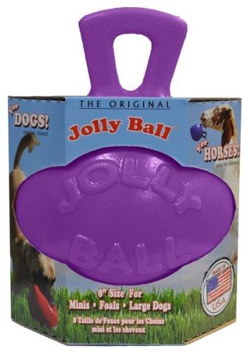 Horsemen's Pride Dual Jolly Ball Spielball für Pferde und große Hunde, 20,3cm, Violett