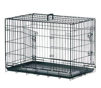 Hunde Transportbox Transportkäfig Drahtbox Schwarz Größe XXL 120x76x82CM