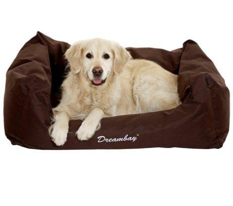 Hundebett Dreambay Hundekissen Hundeliegebett Hundekorb Nylonhundebett abwaschbar Braun