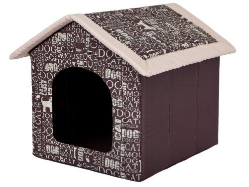 """Hundehöhle """"Wörter"""" Katzenhöhle Hundehütte Hundebett Katzenbett S-XL (XL 60x55cm)"""