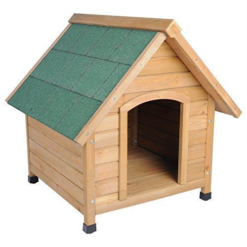 hundeh tte spitzdach massiv holz hundehaus wetterfest hunde haus h tte 76x76x72cm ht2022. Black Bedroom Furniture Sets. Home Design Ideas