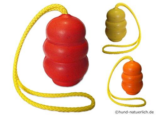 Hundespielzeug Vollgummi Ball Bouncer mit Wurfseil