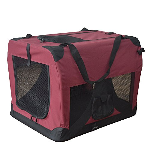 Hundetransportbox Hundebox faltbar Transportbox Autotransportbox Faltbox Transportasche 401-D02 Farbe: marrone, Grösse: S