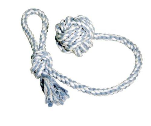 Kerbl Baumwolle Ball mit Seil, 9cm