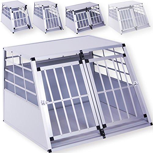 LovPet® Alu Hundebox Transportbox Alubox Hundetransportbox Reisebox Haustiere, Größe:XXL Doppeltüren
