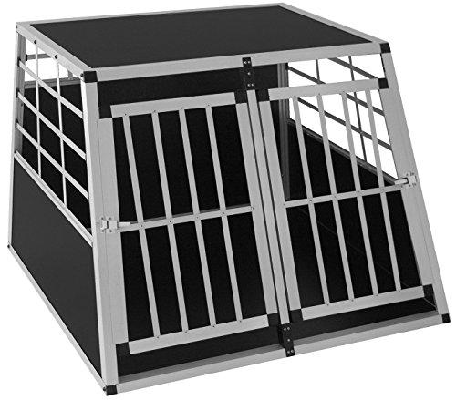 LovPet® Hundebox Transportbox Alubox Hundetransportbox Reisebox Alu Haustiere (XXL Doppeltüren)