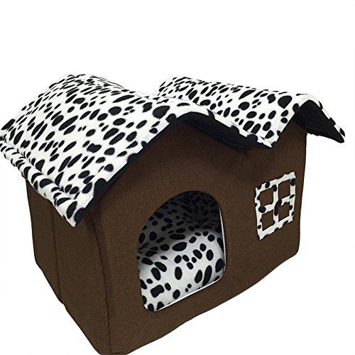 MAGIC UNION Hundehütten Hundehöhle Tierbett Hundebett Hundesofa Korbmit Schlafplätze Kissen für Pet Hund Katze Haustier Braun