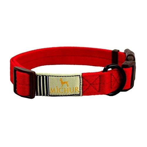 MICHUR WENDY ROT HUNDEHALSBAND, Nylon Hundehalsband, in verschiedenen Größen erhältlich