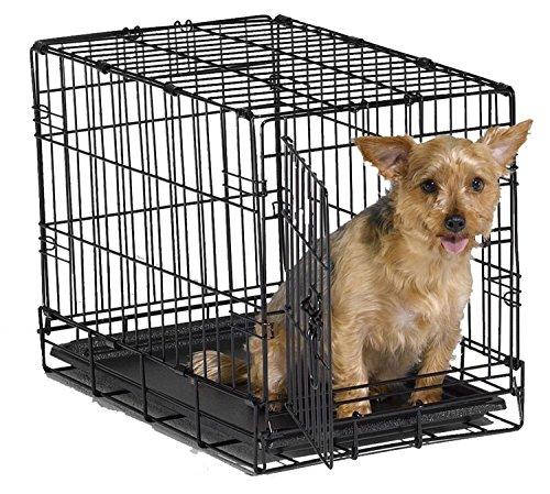 "Masione Transportkäfig Drahtkäfig Hundebox Hundekäfig Transportbox Reisebox 30 Zoll 2 Türen Haustier faltende Hund Katze Crate Cage (30(L)x18(W)x20""(H))"
