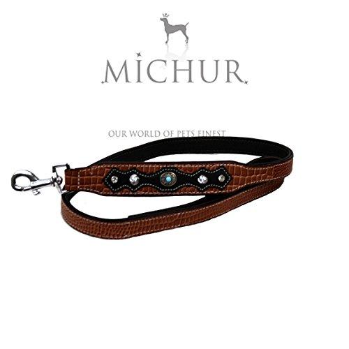 Michur Lakota Leine, Hundeleine, Flachleine, Lederleine, 125cm