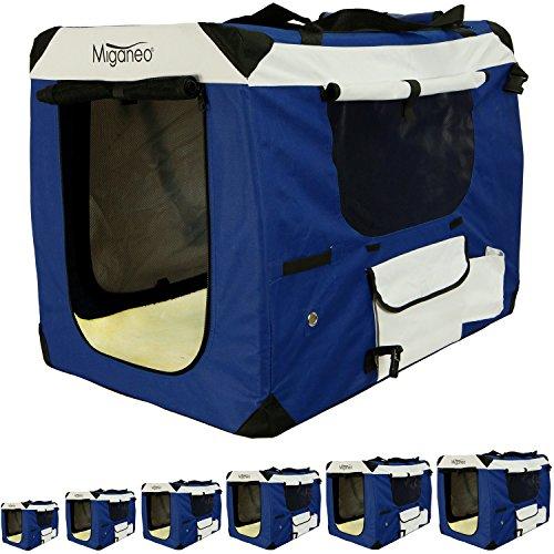 Miganeo® Hundetransportbox klappbar Hundekäfig Käfig Hundebox Transportkäfig Transportbox S-XXXXL (XXL)