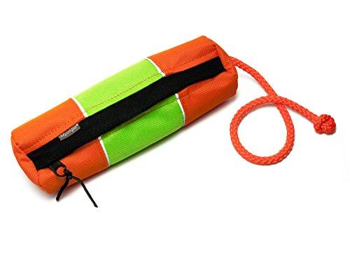 """Mystique® Futterdummy Snackdummy """"Snack"""" reflektierend (groß, orange-neongrün)"""