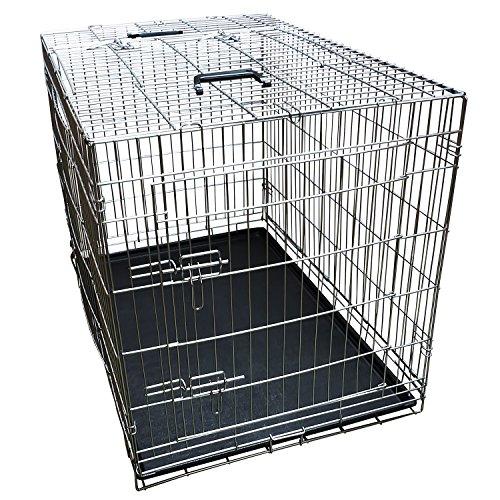 Nemaxx Transportbox Transportkäfig Drahtkäfig Klappbar Hundebox Hundekäfig Käfig Größe XL in Silber