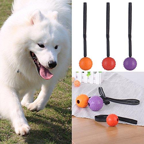 New Hundespielzeug Gummi Ball am Seil Perfekte Fetch Spielzeug kauen Toy Tug Spielzeug Haustiere zu Chase Spielzeug für kleine und mittelgroße Hunde