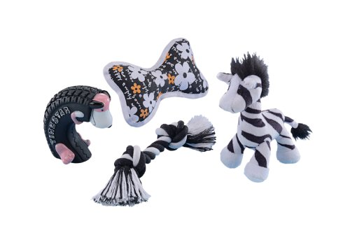 Nobby 69840 Starter Set 4-teilig Spielzeugmix für Welpen und kleine Hunde