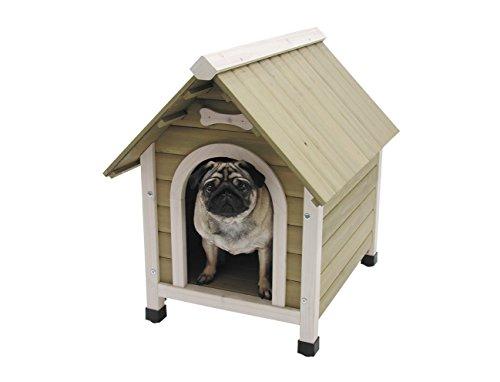 Nobby Holz-Hundehütte mit Satteldach 72,5 x 52,5 x 69 cm Größe M