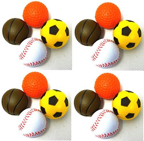 PeSoBo 16 Stück Moosgummiball Schaumball 4 cm Katzenspielzeug Spielball Softball