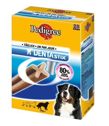 Pedigree DePedigree DentaStix Hundesnack für sehr große Hunde, 4 Packungen je 28 Stück (4 x 1.08 kg)
