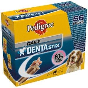 Pedigree Dentastix 80% Ermäßigung für Tartar 10-25kg Hunde enthält 56 Sticks
