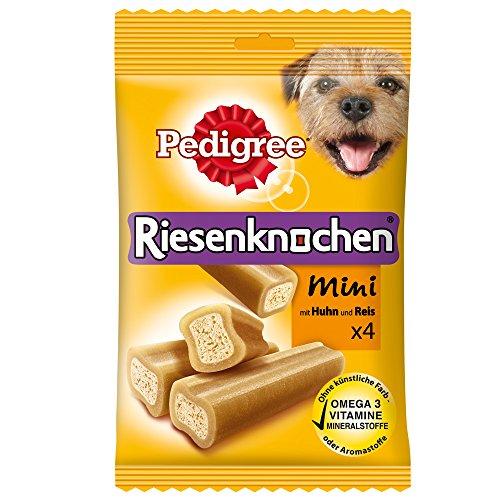 Pedigree Riesenknochen Mini Hundesnack Huhn, 8 Packungen je 4 Stück (8 x 180 g)