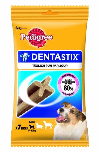 Pedigree Snacks DentaStix für junge und kleine Hunde (4-10kg) 7 Stück, 2er Pack (2 x 110 g)