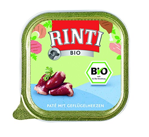 Rinti | Bio-Kennerfleisch + Geflügelherzen | 11 x 150 g