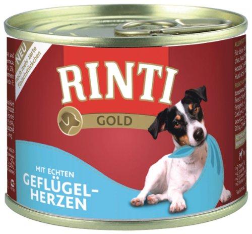 Rinti Hundefutter Gold Geflügelherzen 185 g, 12er Pack (12 x 185 g)