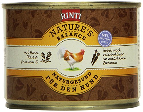 Rinti Hundefutter Natures Balance Huhn & Naturreis 185 g, 12er Pack (12 x 185 g)