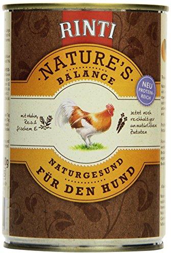Rinti Hundefutter Natures Balance Huhn & Naturreis 400 g, 12er Pack (12 x 400 g)