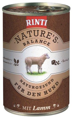Rinti Hundefutter Natures Balance Lamm & Braunreis 400 g, 12er Pack (12 x 400 g)