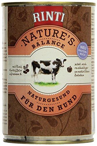 Rinti Hundefutter Natures Balance Rind & Kartoffeln 400 g, 12er Pack (12 x 400 g)