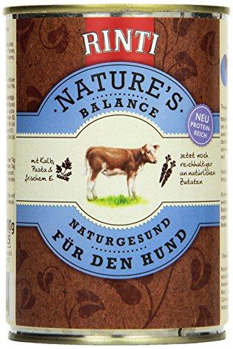Rinti Hundefutter Natures Balance für den Hund mit Kalb, Pasta und frischem Ei 400 g, 12er Pack (12 x 400 g)