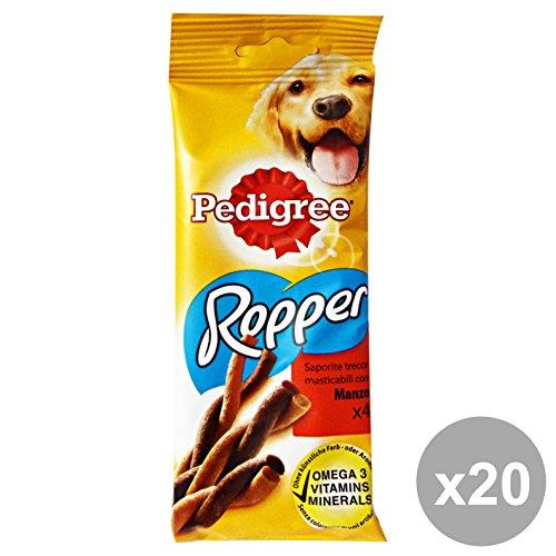 Set 20 PEDIGREE Snack ROPPER Manzo * 4 Pezzi Hundefutter