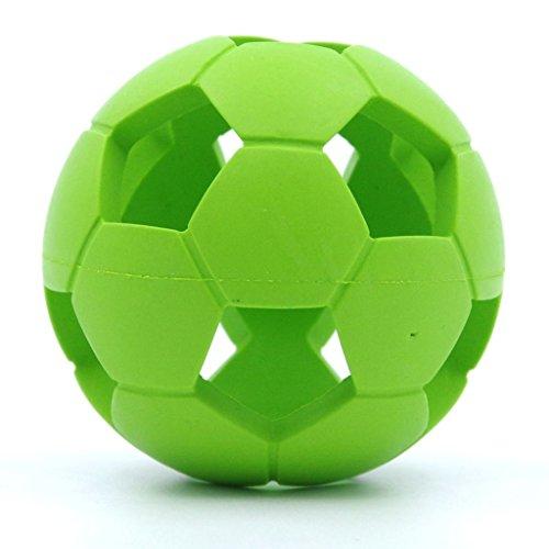 ThinkPet Hundespielzeug hohler Fussball aus Gummi 6cm Gruen