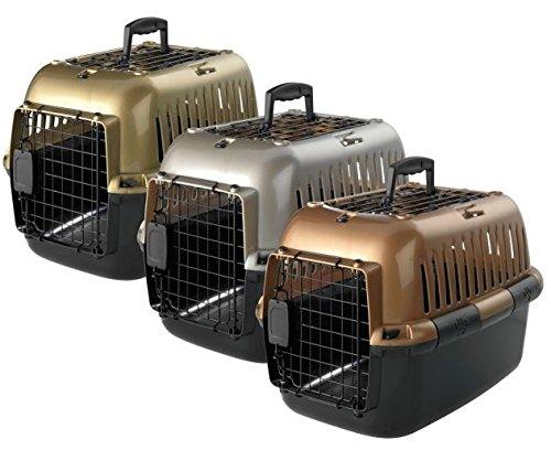 Transportbox Transportkäfig Tragebox für kleine Hunde und große Katzen 57x38x38cm