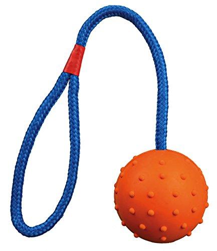 Trixie Naturgummiball am Seil - 6 cm / 30 cm, diverse Farben