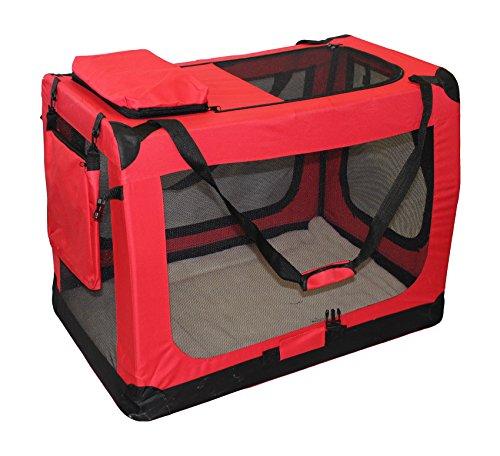 XXL Hunde Transportbox / Hundebox in Rot 91,4 X 63,5 X 63,5 CM
