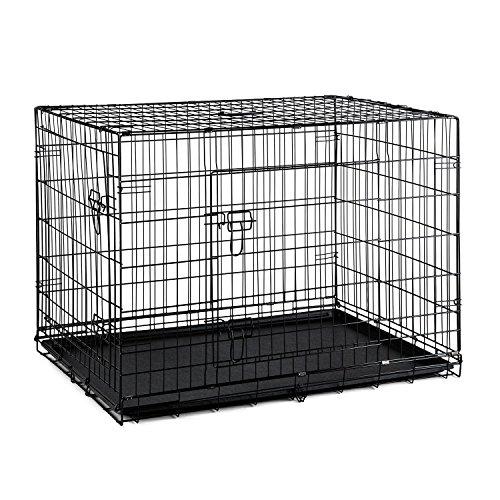 oneConcept Pet Cargo L Hundetransportbox Hunde-Käfig 71x77x106cm Metall PVC-Wanne