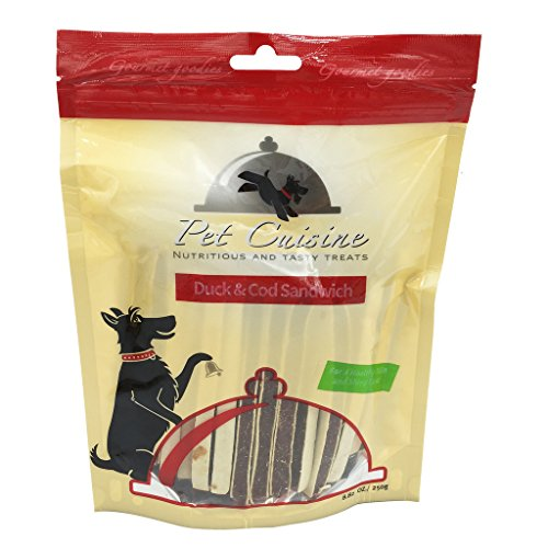 Pet Cuisine Hundeleckerli Hundesnacks Welpen Kausnacks, Ente & Cod Sandwich Sticks, 250g